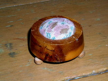 Wooden Stool Pin Cushion