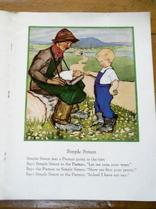 Simple Simon Nursery Rhyme and Illustration