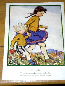 To Market  Nursery Rhyme and Illustration