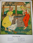 Ding, Dong, Bell  Nursery Rhyme and Illustration