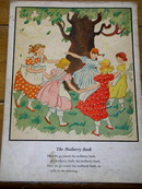 The Mulberry Bush  Nursery Rhyme and Illustration
