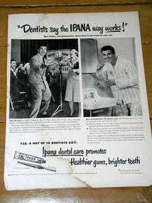 Ipana Toothpaste  Advertisement