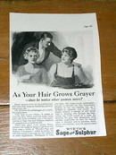 Wyeth's Sage And Sulphur Hair Coloring  Advertisement