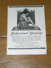 Holeproof Hosiery  Advertisement