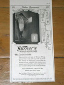 Warner's Invisible Corset Golden Anniversary  Advertisement