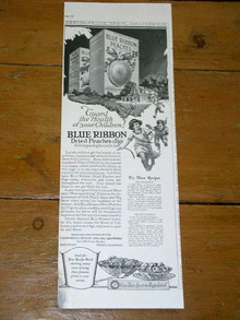 Blue Ribbon Dried Peaches & Figs  Advertisement