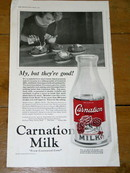 Carnation Evaporated Milk Advertisement