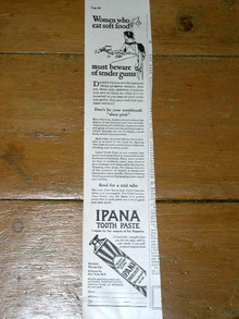 Ipana Tooth Paste Advertisement