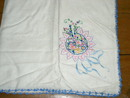Embroidered Linen Tablecloth