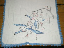 Embroidered Linen Runner