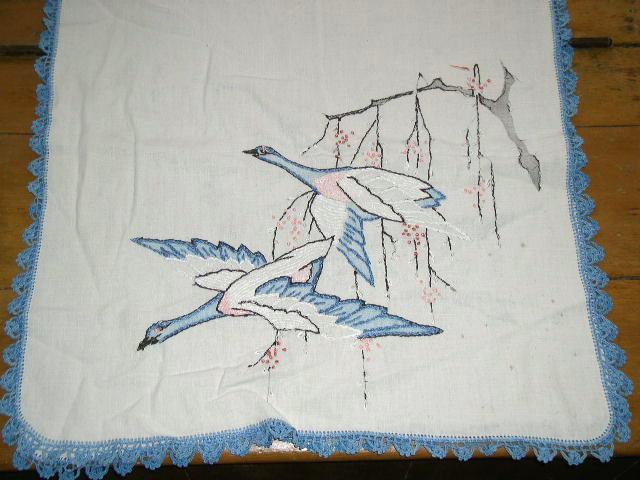 Embroidered Linen Runner