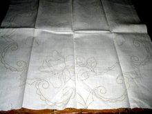 Printed Linen Ebroridery Square