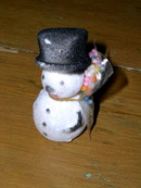 Snowman Figure with Candy