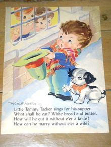 Nursery Rhyme Illustration, Little Tommy Tucker