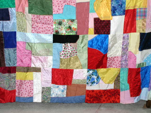 Satin Crazy Quilt Top -  QTP