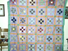 Improved 9 Patch Quilt Top -  QTP -