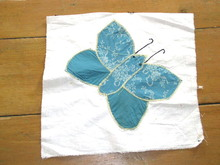 Appliqued Butterfly Quilt Block -  QB