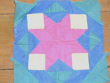 Pieced Star Quilt Block -  QB