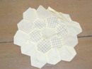 Yellow Hexagons Quilt Block -  QB