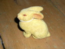 Velour Covered Ceramic Easter Bunny