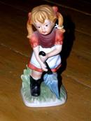Girl with Umbrella Figurine  -  FG