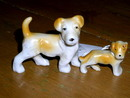 Set of 2 Dog Figurines  -  FG