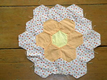 Hexagons Quilt Block -  QB