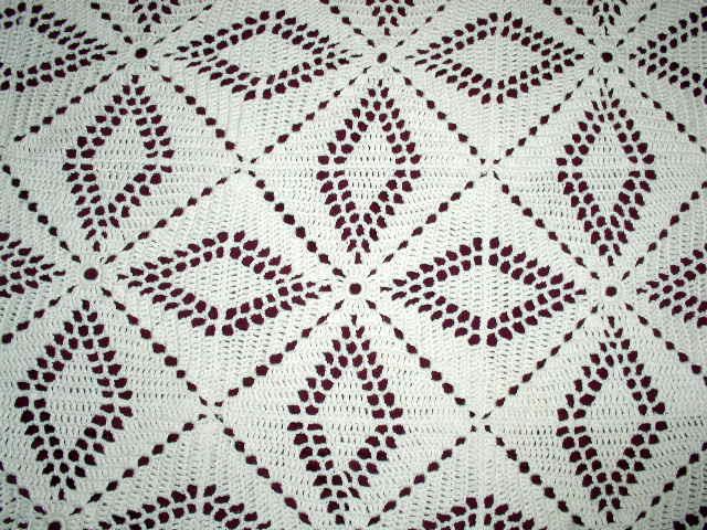 Crochet Cotton Ecru Tablecloth or Bedspread