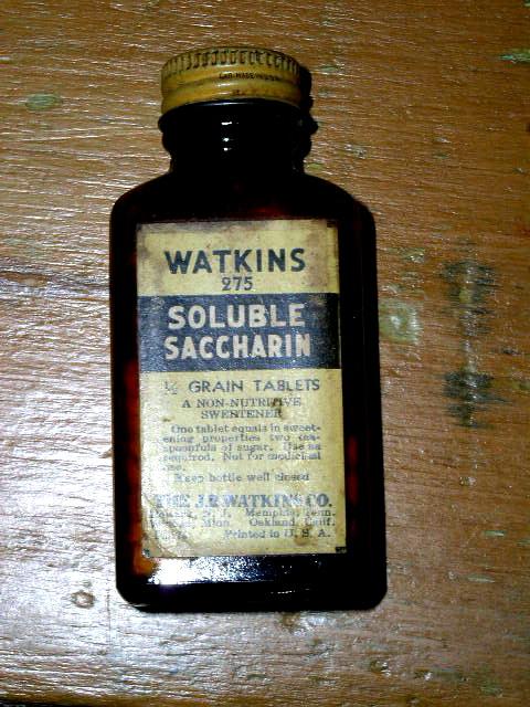 Watkins Saccharin Bottle