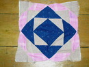 Square in Square Quilt Block 1880's -  QB