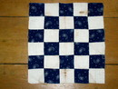 Blue and White Quilt Block 1890's -  QB