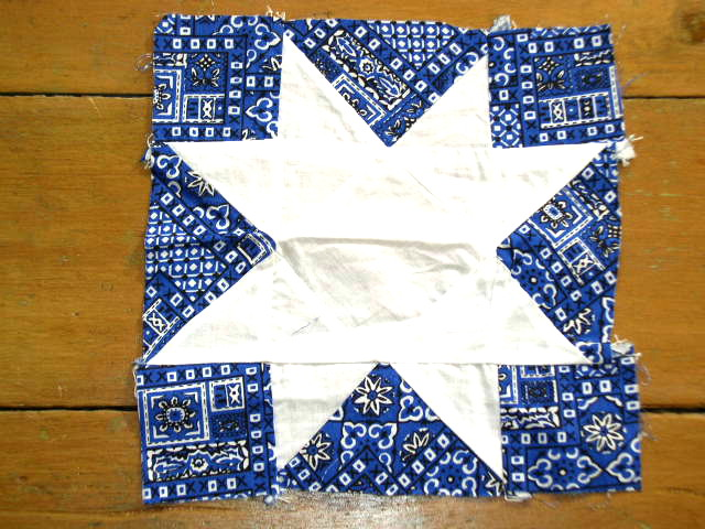 Star Quilt Block 1940's -  QB