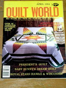 Quilt World Magazine,  April 1984  -  QM