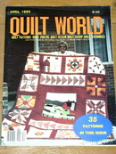 Quilt World Magazine, April  1985  -  QM