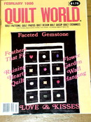 Quilt World  Magazine, February 1986  -  QM