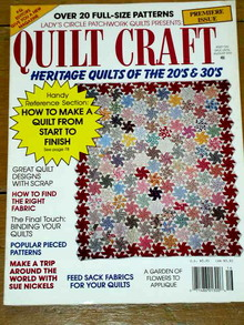 Lady's Circle Patchwork Quilts - Quilt Craft, 1991  -  QM