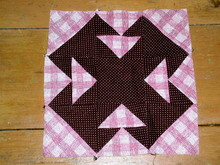 Cross - T Quilt Block, 1900's -  QB
