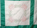 1930's Embroidered Quilt Top -  QTP
