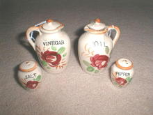 Vinegar & Oil & Salt & Peppers, set/4