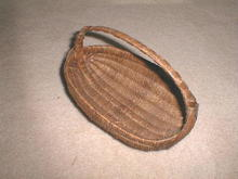 Indian Basket, Oval with Handle
