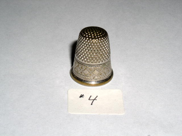 Thimble - Silver with gold fill & gold rim #7