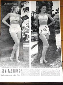 1945 Life Magazine Swimsuit Fashions