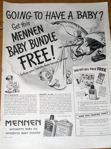 Mennen Bady Products - 1945 Life Magazine Ad