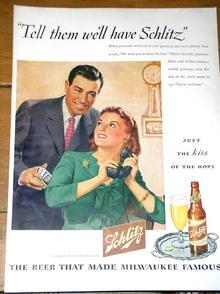 Schlitz Beer Ad