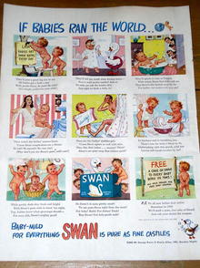 Swan Soap Products Ad