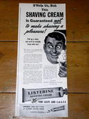 Listerine Shaving Cream  Advertisement