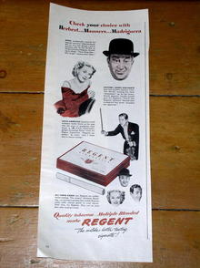 Regent Cigarettes  Advertisement