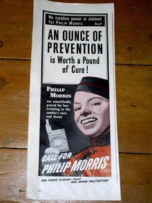 Phillip Morris Cigarettes Advertisement