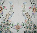 Embroidered Peacock Quilt  -  QLT