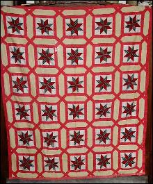 Eight Pointed Star Quilt Top-  QTP